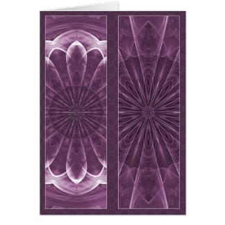 Mandala violeta de los pétalos - el doble echó a u tarjeta de felicitación