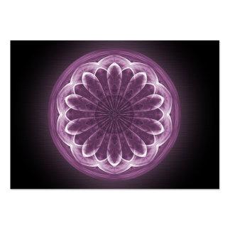 Mandala violeta de los pétalos - tarjeta de comerc tarjeta de visita