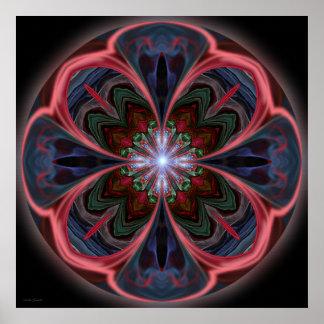 Mandala viva de los pétalos - impresión impresiones
