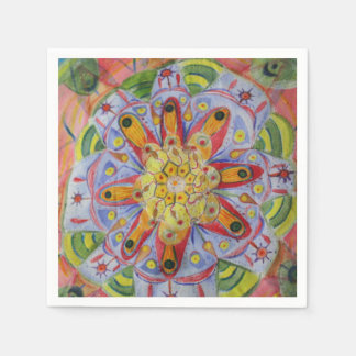 Mandala watercolor art Cocktail Paper Napkins