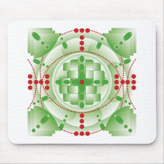 Mandala watermelon mouse pad