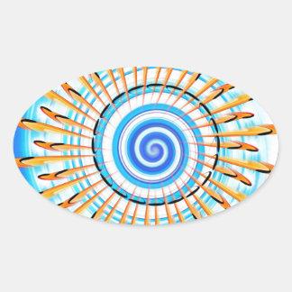 Mandala Waterwave Pegatina Ovalada