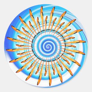 Mandala Waterwave Pegatina Redonda