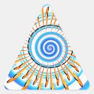 Mandala Waterwave Pegatina Triangular