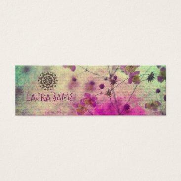 Professional Business Mandala Wildflower Feminine Profile Card