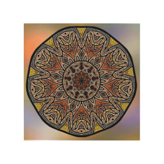 Mandala Wood Wall Art Zazzle