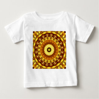 Mandala yellow Hearts Baby T-Shirt