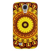 Mandala yellow Hearts Galaxy S4 Cover