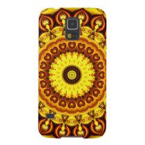 Mandala yellow Hearts Galaxy S5 Cover