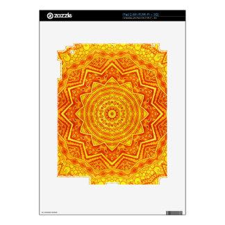 mandala yellow iPad 2 decal