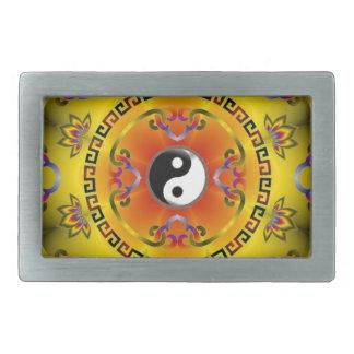 mandala yin yang belt buckles