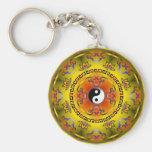 mandala yin yang llavero redondo tipo pin