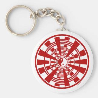 Mandala - Ying Yang Keychain