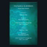 """Mandala Zen Teal Turquoise Blue Yoga Flyer<br><div class=""""desc"""">This matches my best selling business card design;  great way to hand out event flyers for seminars,  pricing lists,  event flyers and more for yoga studios,  meditation groups and more.  Ethereal light overlaid a textured turquoise background with hand drawn mandala in henna style.</div>"""