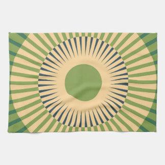 Mandalaic circles kitchen towels