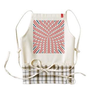 Mandalaic tiling abstract design zazzle HEART apron
