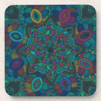 Mandalas 7 Hand-Colored Multiple Products Coaster
