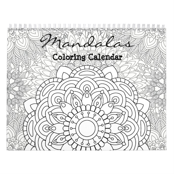 Mandalas Adult Coloring Calendar 2018 Zazzle.com