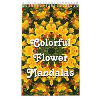 Mandalas coloridas de la flor calendario
