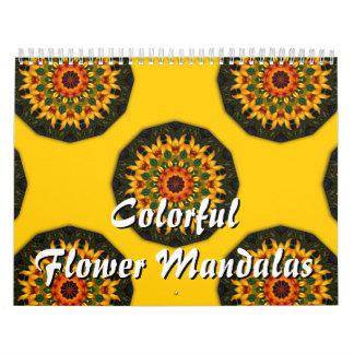 Mandalas coloridas de la flor por un año entero calendarios