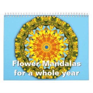Mandalas de la flor por un año entero calendario
