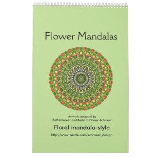 Mandalas de la flor por un año entero calendarios