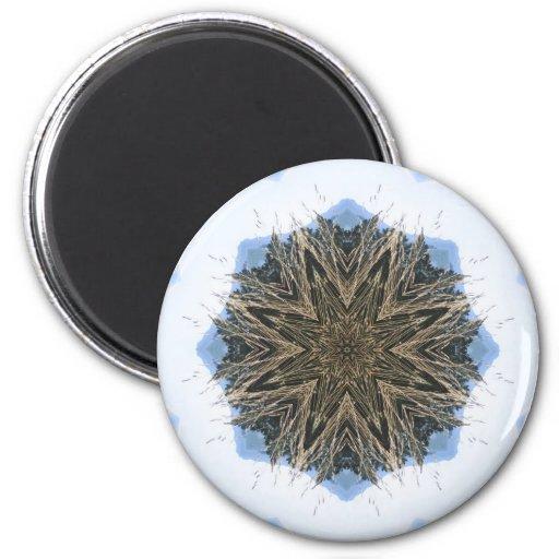 Mandalas de la naturaleza imán redondo 5 cm