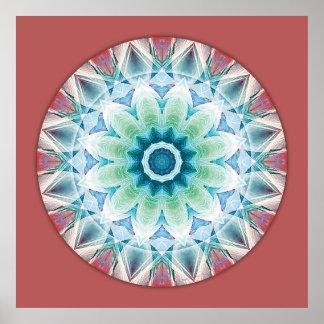 Mandalas del corazón de la transformación, no. 3 poster