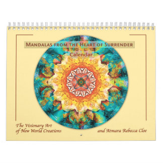 Mandalas del corazón del calendario 2015 de la