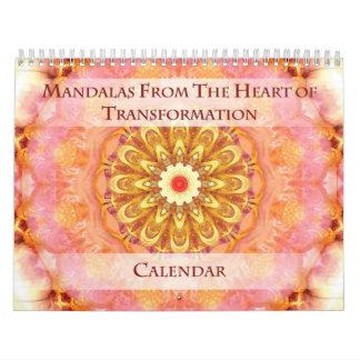 Mandalas del corazón del calendario de la