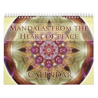 Mandalas del corazón del calendario de la paz 2015