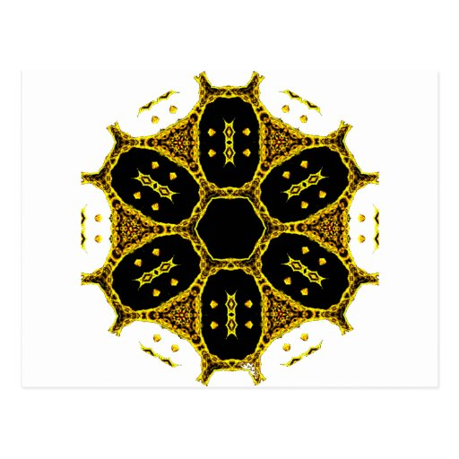Mandalas del cráneo del caleidoscopio postales