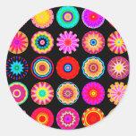 Mandalas del fractal pegatinas redondas