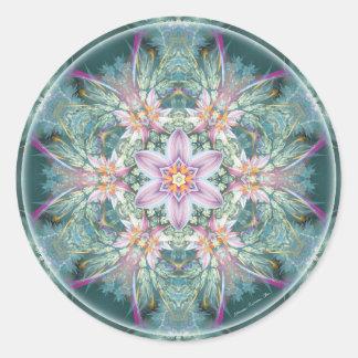 Mandalas del perdón y del lanzamiento 28 pegatina redonda