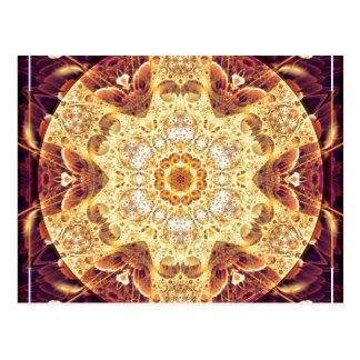 Mandalas del perdón y del lanzamiento 4 tarjetas postales