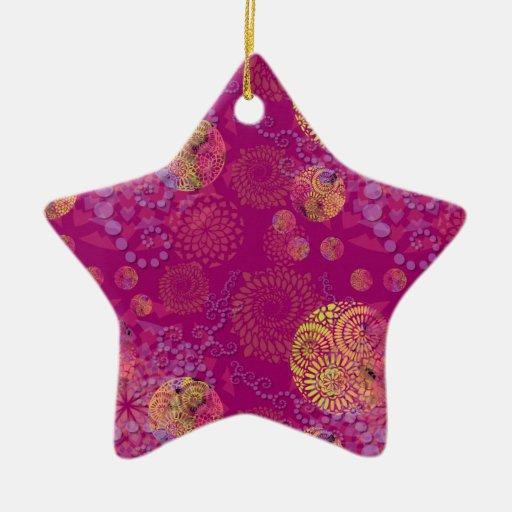 Mandalas en púrpura de las remolachas adornos de navidad