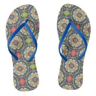 Mandalas Flip Flops