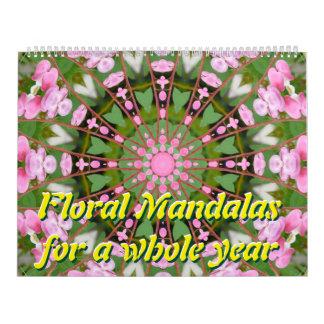Mandalas florales por un año entero calendario de pared