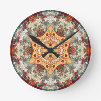 Mandalas from the Heart of Freedom 24 Gifts Round Clock