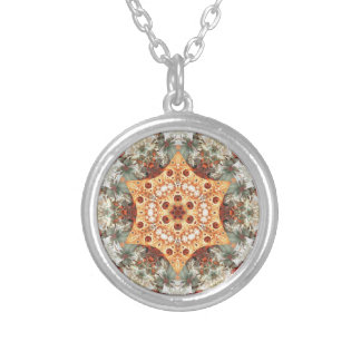 Mandalas from the Heart of Freedom 24 Gifts Silver Plated Necklace