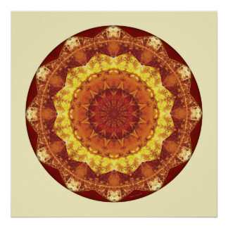 Mandalas from the Heart of Peace, No. 7 Poster