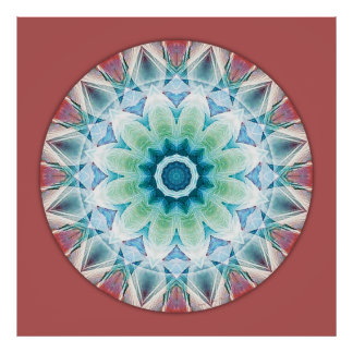 Mandalas from the Heart of Transformation, No. 3 Poster