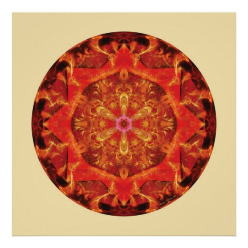Mandalas from the Heart of Transformation, No. 7 Posters