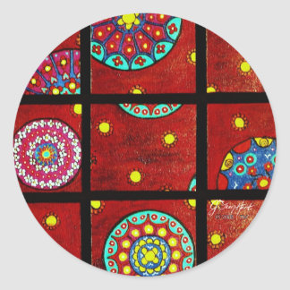 Mandalas In Motion Classic Round Sticker