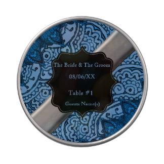 Mandalas magníficas de Mehndi (azules) Frascos De Dulces