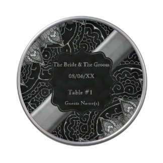 Mandalas magníficas de Mehndi (efecto de plata) Frascos De Caramelos