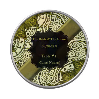 Mandalas magníficas de Mehndi (efecto del oro) Latas De Caramelos