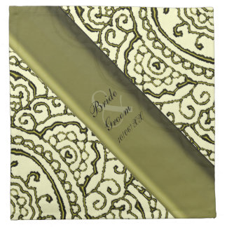 Mandalas magníficas de Mehndi (efecto del oro) Servilleta Imprimida