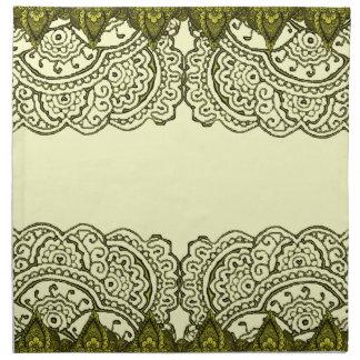 Mandalas magníficas de Mehndi (efecto del oro) Servilletas De Papel