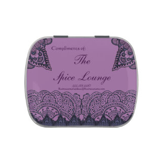 Mandalas magníficas de Mehndi (púrpuras) Frascos De Caramelos